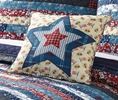MaryJanes Home Americana Quilt Decorative Pillow MaryJanes Home MaryJanesFarm Quilt Americana Pillow