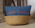 MaryJanesFarm® Decorative Pillows MaryJanes Home MaryJanesFarm Decorative Pillows Queen Bee Sweet Dreams Pom Pom