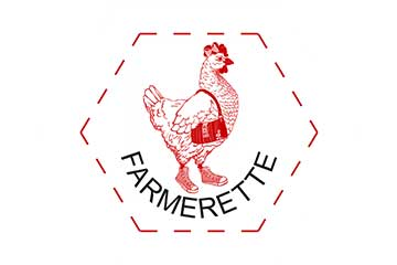 Farmerette Logo in hexagon