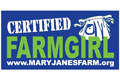 "MaryJanesFarm® ""Certified Farmgirl"" Bumper Sticker"