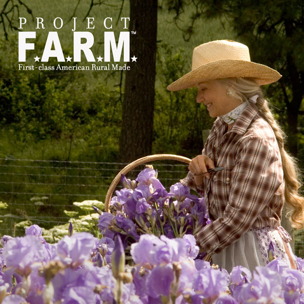 MaryJane Butters in a field of Irises - Project F.A.R.M.
