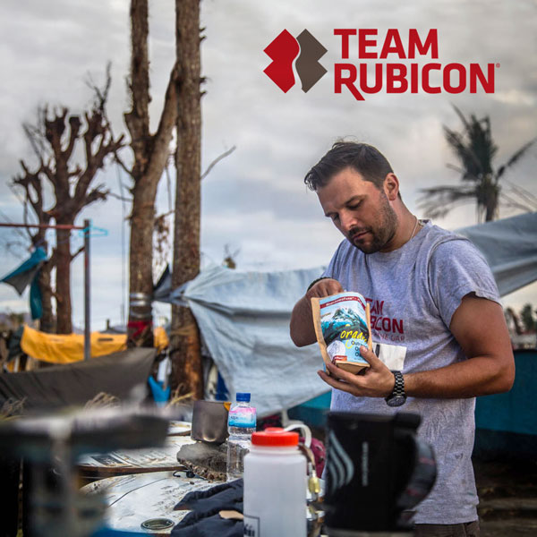 Team Rubicon Seabird Jackson with MaryJanesFarm Outpost Food