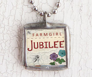 Front of the Farmgirl Jubilee Charm Necklace