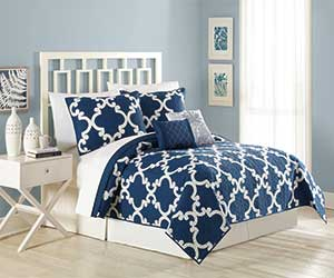 MaryJanes Home 5-Piece Textured Trellis Quilt Set (Twin only)