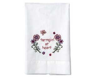 "MaryJanes Home® ""Farmgirl at Heart"" Guest Towel"