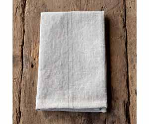 Pewter Pinstriped Woven Linen Cloth Napkin