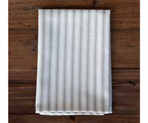 Tan Ticking Striped Cloth Napkin