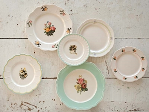 MaryJanes Dish Collection, 6 Assorted Styles