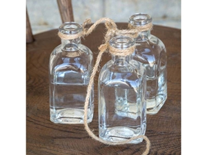 Hanging Flower Bottles, set of 3