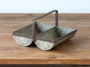 Galvanized Metal Trough Caddy